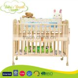 WBC-50 Luxury Solid NZ Pine Wooden Folding Baby Bed Crib with Swing Cradle