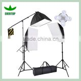 TS-SLK03 Photography video 3 softbox continuous light studio lighting & boom kit