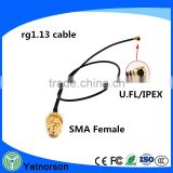 factory supply rf coaxial cable with RG 1.13 cable and SMA connector rf jumper cable adaptor