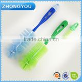 2-in-1 Baby Infant Feeding Bottle And Integrated Teat Brush Ergonomic Handle