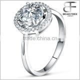 Beautiful life Women's 1 carat big Cubic Zirconia 925 Sterling silver Wedding engagement ring