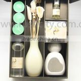 Ceramic Oil Burner Set with Tea Candle with reed diffuser