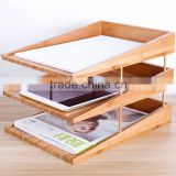 High Quality Handmade Paper File Folder Letter Tray Triple Bamboo new design Handmade Paper holder organizer office File Folder                                                                         Quality Choice