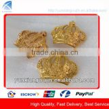 CD5533 Fancy Gold Crown Shape Decorative Metal Plates for Bags