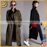 Classic ladies winter cashmere wool long coat, fashion woman winter coat                                                                                                         Supplier's Choice