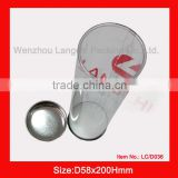 card tin box with clear PVC; round craft tin box with clear PVC