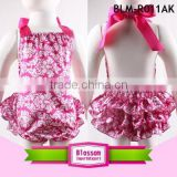 Latest hot sale Baby Clothes Bubble Romper Summer Sunsuit Ruffled backless baby girls Romper