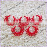 Wholesale Nose RIng High Polish UV Acrylic Fake Septum Piercing Jewelry [SJ-421]