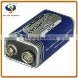Zinc Chloride Dry carbon battery 9V 6F22
