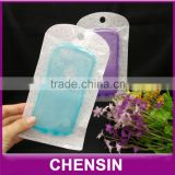 iphone 6 plue mobile case packaging/poly bag/plastic zipper sleeve/transparent packing