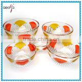 Glassware Dinner Set Hand Painted Glass Bowl