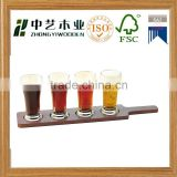 arts and crafts wholesale cheap bamboo sup beer glass cup paddle boards unfinished wood tray                                                                                                         Supplier's Choice