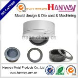 cctv camera housing, die casting cctv part, die cast security cctv accessories with OEM service