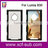 Blank 2D sublimation case with metal plate for Lumia 830 blank phone cases for sublimation printing