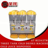 ShenTop ST-BZ345TM Commercial Three Tank Cold and Hot Drinks Making Machine Cold and Hot Juice Dispenser Beverage Maker