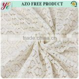 China supplier beige color cotton nylon swiss lace fabric for wedding dresses