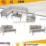 Garden furniture popular aluminium corner sofa set designs and prices outdoor sofa                                                                         Quality Choice