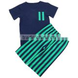 Wholesale 2016 Kids Boys July 4th Day Clothes Sets Children Patriotic Navy/Green Outfits Boutique 4th Of July clothing Sets