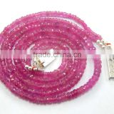 Natural Faceted pink Sapphire Beads