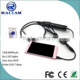 7mm Android OTG USB Endoscope Inspection Camera for Cleaning Air-condition and Three-way Catalyst