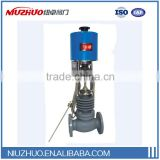 Self-operated electric temperature regulating valve for hot gas,hot oil,steam,water supply
