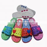 bright-colored eva slippers for ladies, heart design pvc upper
