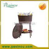 Cool Bar Table Drinks Storage Rattan Wicker Stool Party Outdoor Picnic BBQ Keter Ice Bucket