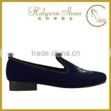 black velvet upper round toe slip on new style loafer shoes men