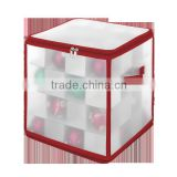 Zipper Waterproof Plastic See-through Christmas Ornament Gift Storage Chest, Box for Organizer