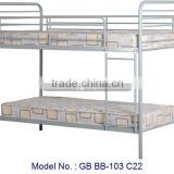 Simple White Bunk Bed In Metal For Bedroom Furniture, metal bed, double decker bed, single bed designs, metal bunk bed furniture