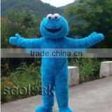 Blue Elmo Mascot Costume , FREE SHIPPING