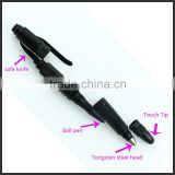Tungsten steel head break glass touch ball pen writing and tactical pen self defense at night