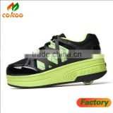 Roller skating shoes Hot sale newest children two skates shoes roller wheels shoes
