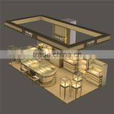 high end Pandora jewelry store furniture design used clear glass showcase with LED strip light