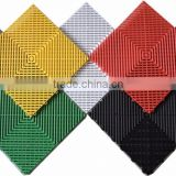 Plastic interlocking colorful floor mats for garage use