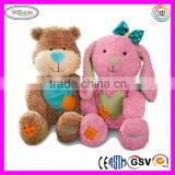 D573 Recordable Couple Bear Brown & Pink Plush Toys Stuffed Animals with Sound