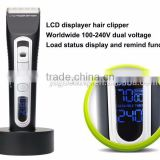 Wholesale barber supplies Rechargeable hair clipper LED displayer hair cut machine.