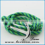 Wholesale Paracord Handmade Rope Wristband Anchor Bracelet with 2mm Rope