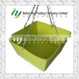 New Design Square Nonwoven Fabric Hanging Basket with Stainless Steel Chains for Garden Planting