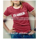 Low MOQ T-Shirt For Women Custom Printed T-shirt Promotion Product