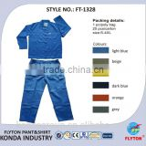 safety cloth 2 pieces wholesale china supplier cotton material fireproof safety clothing FT-1328