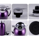 Beautiful In Colors Metal Outer Glass Inner Vacuum Jug Thermos Flask