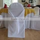 Wedding scuba chair cover with sash fashion banquet chair cover scuba fabric chair cover with sash