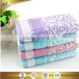 china manufacturer bordered jacquarded bamboo and cotton face towel Kids hand towel 25*50 cm