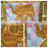 Bohemian Elephant Patchwork Tapestry Vintage Patchwork Wall Hanging