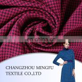 2015 China Organic check Italian design swallow gird and hound stooth worsted wool fabric for women coat