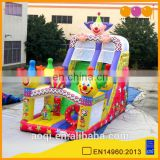 AOQI cheap inflatable amusement park slides high clown inflatable slides for commercial