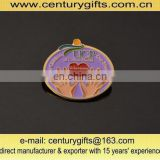 Customized vplunteers sliver-plated badge with soft enamel suitable for promotional and advertisement purposes