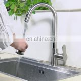 Hands free touchless faucet sensor automatic deck mounted single handle pull-down kitchen faucet