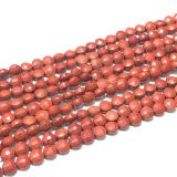 Wholesale gemstone beads coin faceted Red Stone natural stone beads for jewelry making